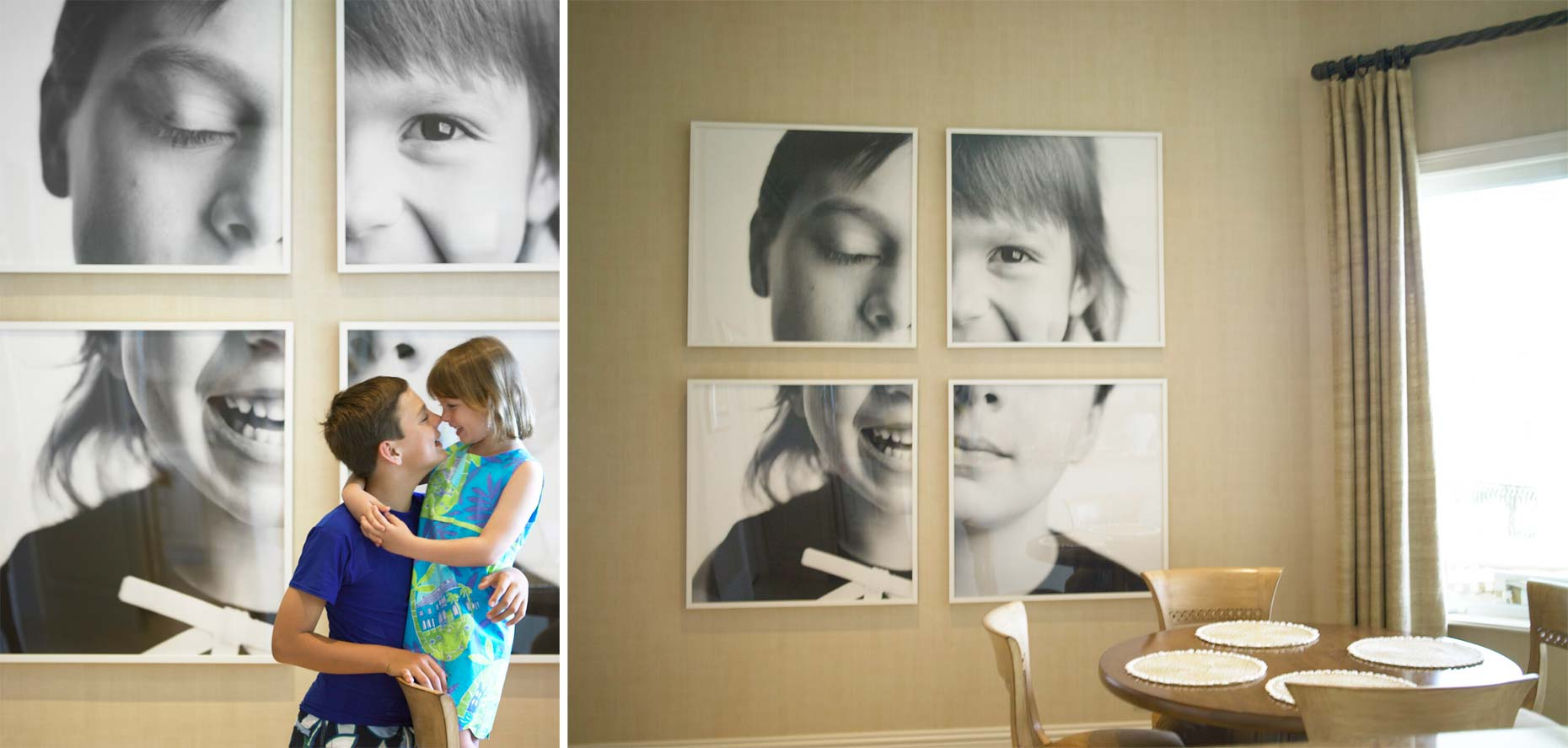 Portrait Installations | Laurie and Charles Photographs